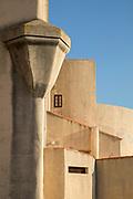 Part of citadel building under clear sky, Calvi, Corsica, France