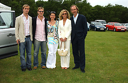 Left to right, HARRY RUTHERFORD, TOM RUTHERFORD, NAOMI FRANKS and ANGIE & MIKE RUTHERFORD at the Kuoni World Class Polo Day held at Hurtwood Park Polo Club, Surrey on 29th May 2005.<br /><br />NON EXCLUSIVE - WORLD RIGHTS