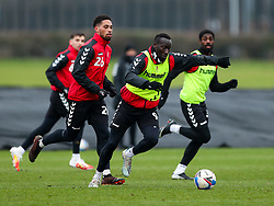 Famara Diedhiou of Bristol City during a training session ahead of the FA Cup game with Portsmouth - Rogan/JMP - 07/01/2021 - Failand - Bristol, England.