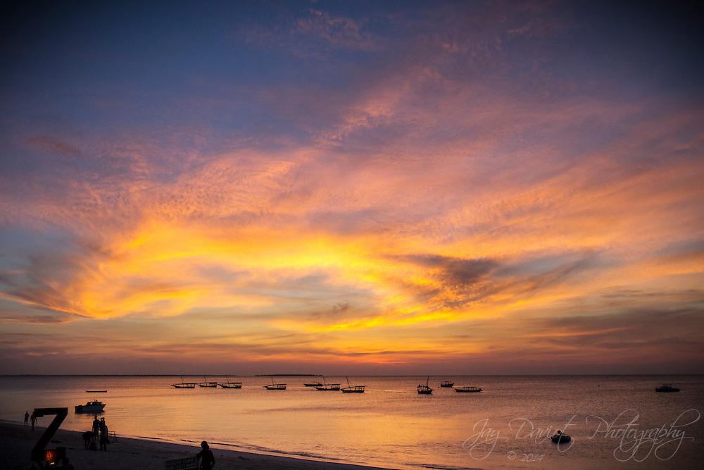 A spectacular sunset shot in the North West of Zanzibar.