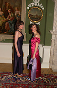 Phoebe Lopez-Rivera and Christina Lambi, The opening of the Foundling Museum, Brunswick Sq. 9 June 2004. ONE TIME USE ONLY - DO NOT ARCHIVE  © Copyright Photograph by Dafydd Jones 66 Stockwell Park Rd. London SW9 0DA Tel 020 7733 0108 www.dafjones.com