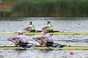 Poznan,  POLAND,  Sunday, 19/06/2016, Women's Double Sculls, GBR W2X Bow Victoria THORNLEY, Katherine GRAINGER, FISA World Cup III, Malta Lake.  FISA World Cup III, Malta Lake.[Mandatory Credit; Peter SPURRIER/Intersport-images]