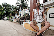 Portrait of a man that is a tourist that never left. Pai is full of expats that fell in love with the place and chose to make it their home. North of Chiang Mai, Thailand.