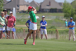May 6, 2018 - The Colony, TX, U.S. - THE COLONY, TX - MAY 06: Gaby Lopez (MEX) hits from the 18th tee during the Volunteers of America LPGA Texas Classic on May 6, 2018 at the Old American Golf Club in The Colony, TX. (Photo by George Walker/Icon Sportswire) (Credit Image: © George Walker/Icon SMI via ZUMA Press)