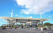 Outside view of the Hard Rock Stadium before the International Champions Cup match between Real Madrid and FC Barcelona at the Hard Rock Stadium, Miami on 29 July 2017.