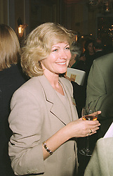 DEBBIE MOORE the leading businesswoman, at a reception in London on April 16th 1997.LXR 63