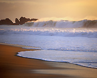 Beautiful beach along the Big Sur Coast, Garrapata State Park CA, USA.