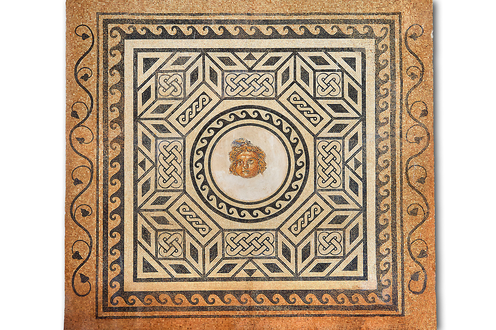 2nd - 3rd century Roman Mosaic from the Alcazar of Cordoba, Spain .<br /> <br /> If you prefer to buy from our ALAMY PHOTO LIBRARY Collection visit : https://www.alamy.com/portfolio/paul-williams-funkystock/roman-mosaic.html . Type -   Cordoba     - into the LOWER SEARCH WITHIN GALLERY box. Refine search by adding background colour, place, museum etc<br /> <br /> Visit our ROMAN MOSAIC PHOTO COLLECTIONS for more photos to download as wall art prints https://funkystock.photoshelter.com/gallery-collection/Roman-Mosaics-Art-Pictures-Images/C0000LcfNel7FpLI