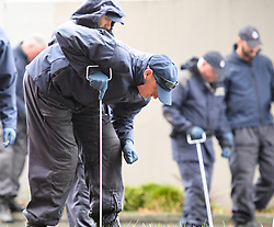 March 17, 2019 - Christchurch, New Zealand - Investigators comb the area near a mosque for more clues and evidences after Friday's mosque massacre. The death toll from the terror attacks on two mosques in Christchurch has risen to 50 as one more victim was found at one of the shooting scenes, the police said on Sunday. (Credit Image: © Xinhua via ZUMA Wire)