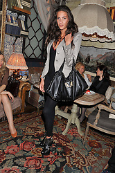 KAREN EL-KHAZEN shoe designer at an afternoon tea party in aid of the Naked Heart Foundation held at Mari Vanna, Wellington Court, 116 Knightsbridge, London on 29th August 2012.