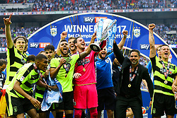 Free to use courtesy of Sky Bet, Huddersfield Town win the Championship Play off and head to the Premier League - Mandatory by-line: Jason Brown/JMP - 29/05/2017 - FOOTBALL - Wembley Stadium - London, England - Huddersfield Town v Reading - Sky Bet Championship Play-off Final