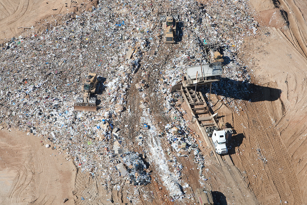 Trash receiving area to be land-filled.