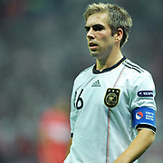 Germany's Philipp LAHM during their UEFA EURO 2012 Qualifying round Group A matchday 19 soccer match Turkey betwen Germany at TT Arena in Istanbul October 7, 2011. Photo by TURKPIX