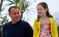 Director Matteo Garrone and Actress Alida Baldari Calabria at the Dogman film photo call at the 71st Cannes Film Festival, Thursday 17th May 2018, Cannes, France. Photo credit: Doreen Kennedy
