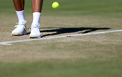 Novak Djokovic prepeares to serve during day five of the Fever-Tree Championship at the Queen's Club, London.