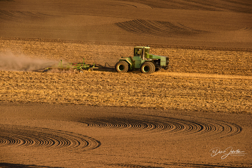 Working the land in late summer, Hwy 272 between Colfax and Palouse, Washington, USA