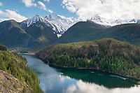 Colonial Peak, Pyramid Peak, and Diablo Lake, Ross Lake National Recreation Area, North Cascades Washington