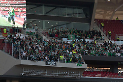 April 22, 2018 - Madrid, Madrid, Spain - Real Betis supporters. Null in Wanda Metropolitano between Atletico de Madrid and Real Betis. Atletico de Madrid thinks in Europa League match. (Credit Image: © Jorge Gonzalez/Pacific Press via ZUMA Wire)