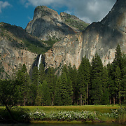 Dramatic view of Yosemite Valley from the Gates of the Valley, Yosemite National Park, CA.