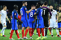 Andre-Pierre Gignac, Bacary Sagna France Celebration <br /> Marseille 15-06-2016 Stade du Velodrome <br /> Football Euro2016 France - Albania / Francia - Albania Group Stage Group A<br /> Foto Massimo Insabato / Insidefoto