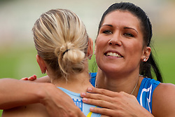 Marina Tomic and Radmila Vukmirovic after the women 100 m Hurdles  at Slovenian National Championships in athletics 2010, on July 17, 2010 in Velenje, Slovenia. (Photo by Vid Ponikvar / Sportida)