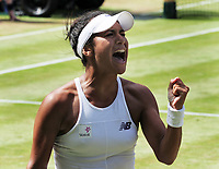 Tennis - 2017 Wimbledon Championships - Week One, Friday [Day Five]<br /> <br /> Womens Singles Third Round match<br /> Heather Watson (GBR) v Victoria Azarenka (BLR) <br /> <br /> Heather Watson tries to rally herself on Centre court <br /> <br /> COLORSPORT/ANDREW COWIE