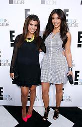 Kourtney Kardashian and Kim Kardashian attend the E! Network Upfront event at Gotham Hall in New York City, NY, USA on April 30, 2012. Photo by Donna Ward/ABACAPRESS.COM  | 318565_032 New York City Etats-Unis United States