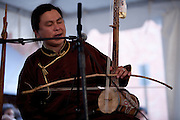 Nachyn Choodu of the Tuvan throat-singing group Alash at the Lowell Folk Festival, 25 July 2009.