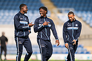 Wycombe Wanderers players inspect the pitch prior to kick off of during the EFL Sky Bet League 1 match between Oxford United and Wycombe Wanderers at the Kassam Stadium, Oxford, England on 30 March 2019.