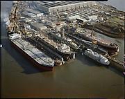 "Ackroyd C04448-2. ""Port of Portland. stock. Aerials: Swan Island drydock. December 15, 1977"""