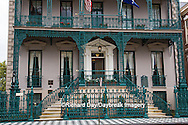 66512-00108 Iron fence and decorations on John Rutledge House Inn Bed & Breakfast, Charleston, SC