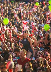 Público durante o show de Tiago Iorc no Palco Planeta durante a 22ª edição do Planeta Atlântida. O maior festival de música do Sul do Brasil ocorre nos dias 3 e 4 de fevereiro, na SABA, na praia de Atlântida, no Litoral Norte gaúcho.  Foto: Jefferson Bernardes / Agência Preview