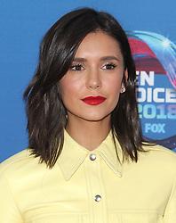 Fox Teen Choice Awards 2018. 12 Aug 2018 Pictured: Nina Dobrev. Photo credit: Jaxon / MEGA TheMegaAgency.com +1 888 505 6342