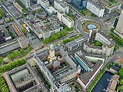 Nederland, Zuid-Holland, Rotterdam, 14-05-2020; Rotterdam centrum, Coolsingel en Hofplein (rechts). Zicht op het Stadhuis in de voorgrond. Het is rustig op straat met weinig verkeer door de Corna crisis en maatregelen.<br /> Rotterdam center, Coolsingel and  Hofplein. City Hall (town hall). It is quiet on the street with little traffic due to the Corna crisis and measures.<br /> <br /> luchtfoto (toeslag op standard tarieven);<br /> aerial photo (additional fee required)<br /> copyright © 2020 foto/photo Siebe Swart