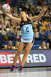 Surrey Storm's Mikki Austin in action during the Vitality Netball Superleague Super Ten match held at Arena Birmingham