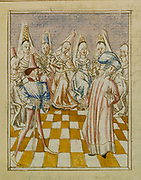 The Orchestra of Women: from 'Le livre de Champion des Dames' by Martin le Franc. 15th century French manuscript.