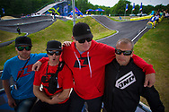 Team GSX is kitted out in ONE gear at the UCI BMX Supercross World Cup in Papendal, Netherlands.