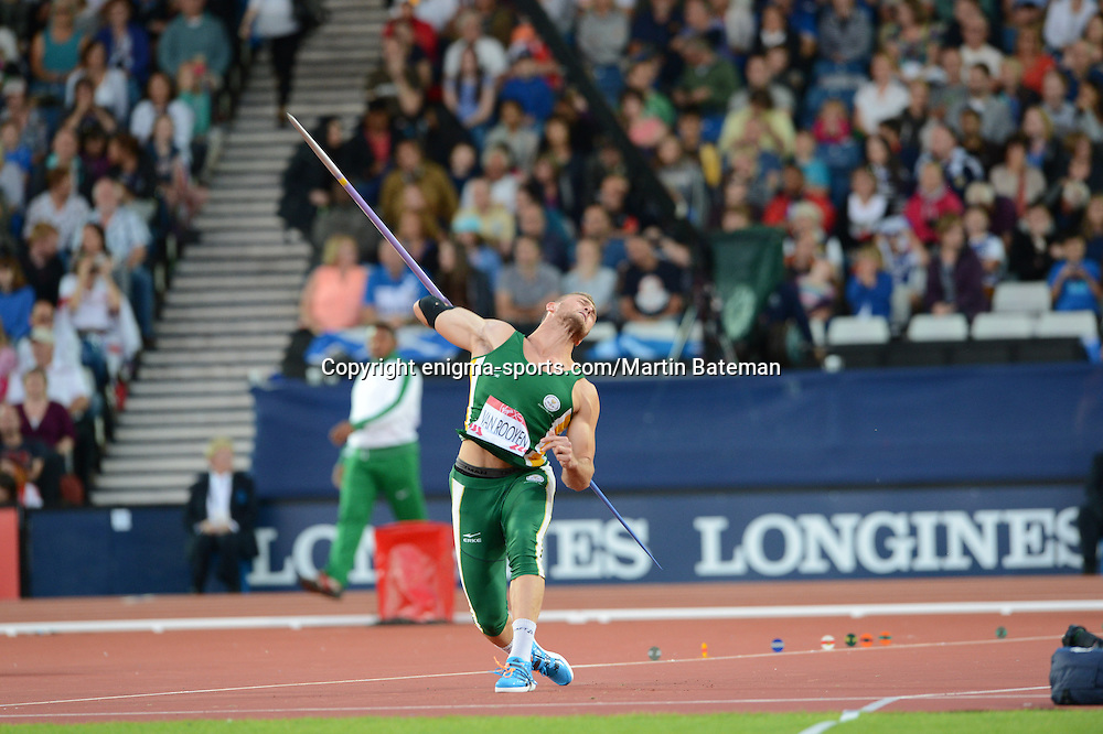 Men's Javelin Competition on August 2nd, 2014 at Hampden Park, Glasgow