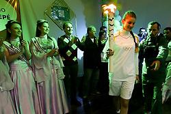 O secretário do Turismo, Esporte e Lazer, Juvir Costella participa do revezamento da Tocha Olímpica, em São Sepé, RS.  Aceso em 21 de abril, em ritual repetido a cada quatro anos em Olímpia, na Grécia, o símbolo olímpico passará por 28 cidades gaúchas de 3 a 9 de julho e será conduzido por 617 indicados no Rio Grande do Sul, começando por Erechim e se despedindo em Torres, em percurso de mais de dois mil quilômetros. Foto: Marcos Nagelstein / Agência Preview