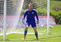 VALE DO LOBO, PORTUGAL - Sunday, May 29, 2016: Wales' goalkeeper Owain Fon Williams during a Wales v Wales training match on day six of the pre-UEFA Euro 2016 training camp at the Vale Do Lobo resort in Portugal. (Pic by David Rawcliffe/Propaganda)