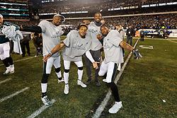 Philadelphia Eagles celebrate after winning the NFL NFC Championship game between The Minnesota Vikings and The Philadelphia Eagles at Lincoln Financial Field in Philadelphia on Sunday, January 21st 2018. (Brian Garfinkel/Philadelphia Eagles)