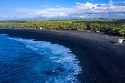 Issac Hale Beach Park, Pohiki Beach, Black Sand Beach, Puna, Island of Hawaii, Hawaii