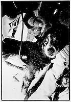 UP 200 Sled Dog Race, Midnight Run, 1992, Vet check at Chatham checkpoint, Michigan