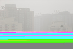 May 4, 2017 - Beijing, Beijing, China - Beijing, CHINA-May 4 2017: (EDITORIAL USE ONLY. CHINA OUT) ..The sand storm hits Beijing on May 4th, 2017. (Credit Image: © SIPA Asia via ZUMA Wire)