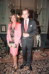VIMLA LALVANI and JOHANNES MALLINCKRODT at a party to celebrate the 250th anniversary of the Colnaghi Gallery held at Spencer House, London on 1st July 2010.