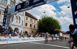 Winner Brett Lancaster (GreenEdge) during 4th Stage Brezice - Novo Mesto (155,8 km) at 20th Tour de Slovenie 2013, on June 16, 2013, in Novo Mesto, Slovenia. (Photo by Urban Urbanc / Sportida.com)