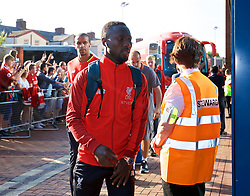 BLACKBURN, ENGLAND - Thursday, July 19, 2018: Liverpool's Naby Keita arrives at the stadium before a preseason friendly match between Blackburn Rovers FC and Liverpool FC at Ewood Park. (Pic by Paul Greenwood/Propaganda)