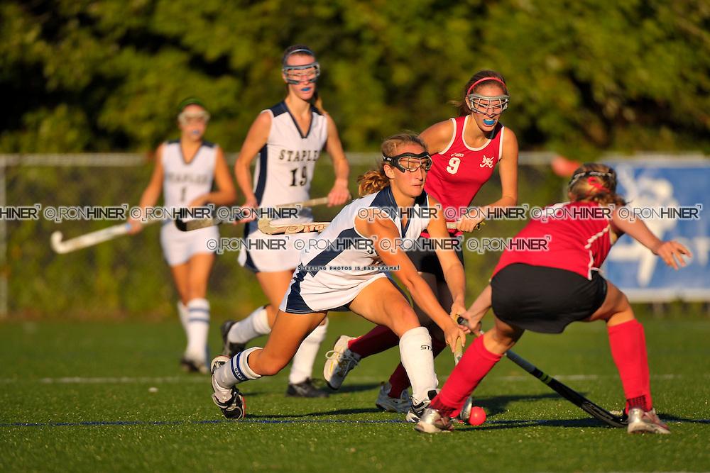 Staples High School Field Hockey..Staples ties New Canaan 2-2..Emily Ashken (SR)(C)