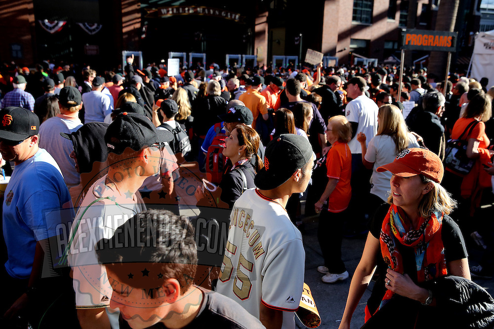A general view of the San Francisco AT&T Park, home of the San Francisco Giants, as seen in the fifth game of the 2014 World Series against the Kansas City Royals, on Thursday, October 24, 2014. The Giants won the game 5-0.(Photo/Alex Menendez)