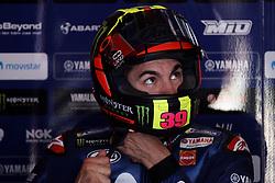 June 16, 2018 - Barcelona, Catalonia, Spain - Maverick Vinales (25) of Spain and Movistar Yamaha MotoGP during the qualifying of the Gran Premi Monster Energy de Catalunya, Circuit of Catalunya, Montmelo, Spain.On 16 june of 2018. (Credit Image: © Jose Breton/NurPhoto via ZUMA Press)